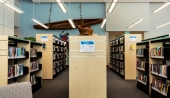 Ven-Rez Products in Hillsburgh Library. Photo credit: David Lasker Photography. Design: +VG Architects.