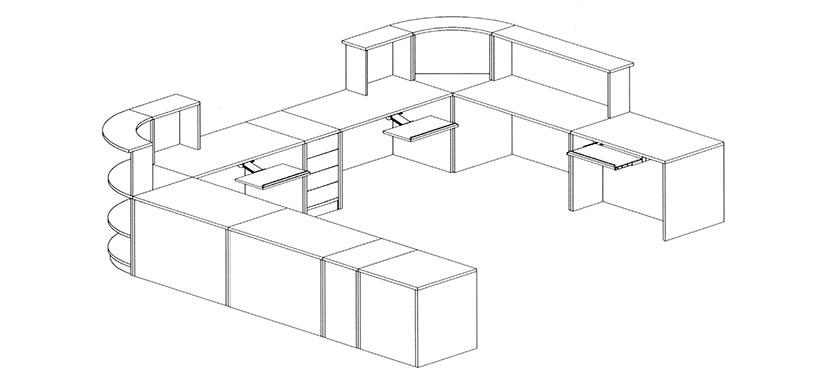 Reception Desk Detail Cad Drawing Autocad Reception Desk
