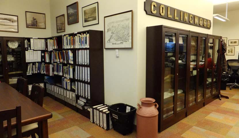Collingwood Public Library display