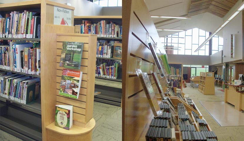 Cookstown Public Library End Panel and Media Display