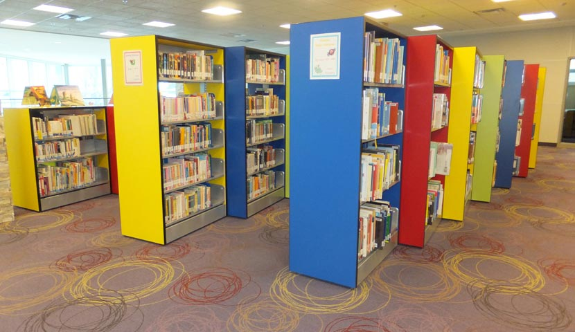 Corner Brook Public Library Primary Colour End Panels