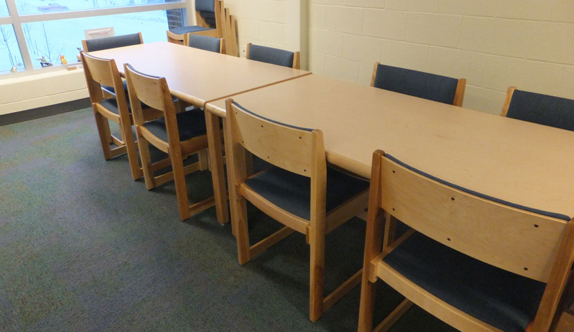 Essa Public Library Boardroom table and seating 2