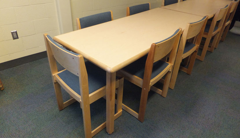 Essa Public Library Boardroom table and seating