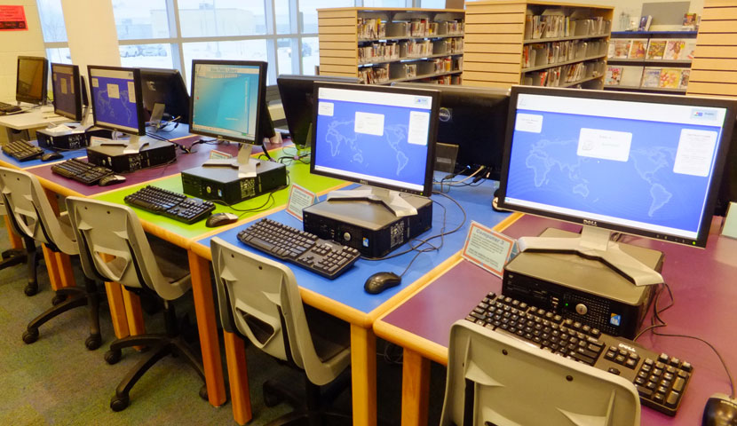 Essa Public Library BN Series CPU Tables Custom Laminate