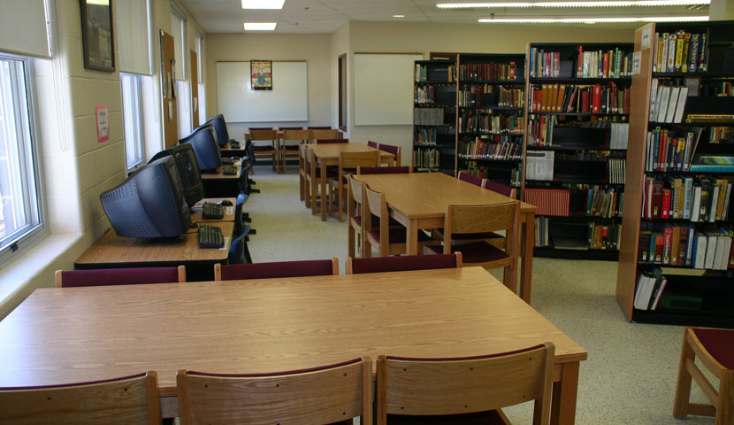 Shelburne High School Library Reading Table Layout