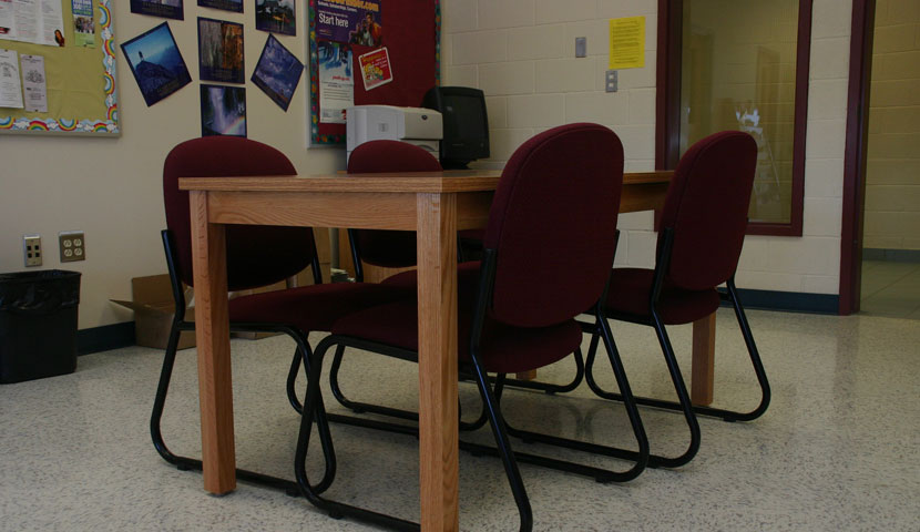 Shelburne High School Library Reading Station