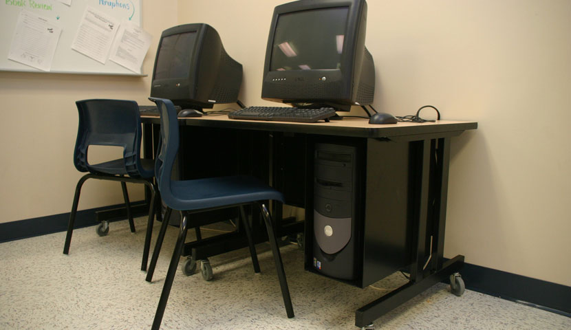 Shelburne High School Corner Computer Station