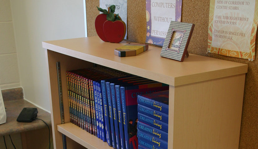 Shelburne High School Horizon Wood Bookcase