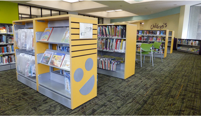 TPL Northern District custom end panels and mobile shelving