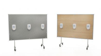 Ven-Rez Privacy Panels with santizer stations