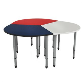 Ven-Rez Freedom Series Pie Shaped Table